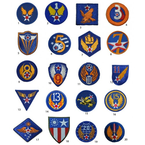 001 PATCHES WW2 US AIR FORCE