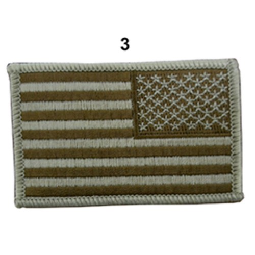 US ARMY FLAG SLEEVES DROIT CAMO DESERT