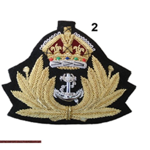 ROYAL NAVY WIRE CAP BADGE
