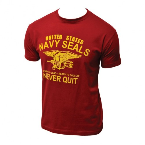 TEE SHIRT NAVAL SEAL NEVER QUIT
