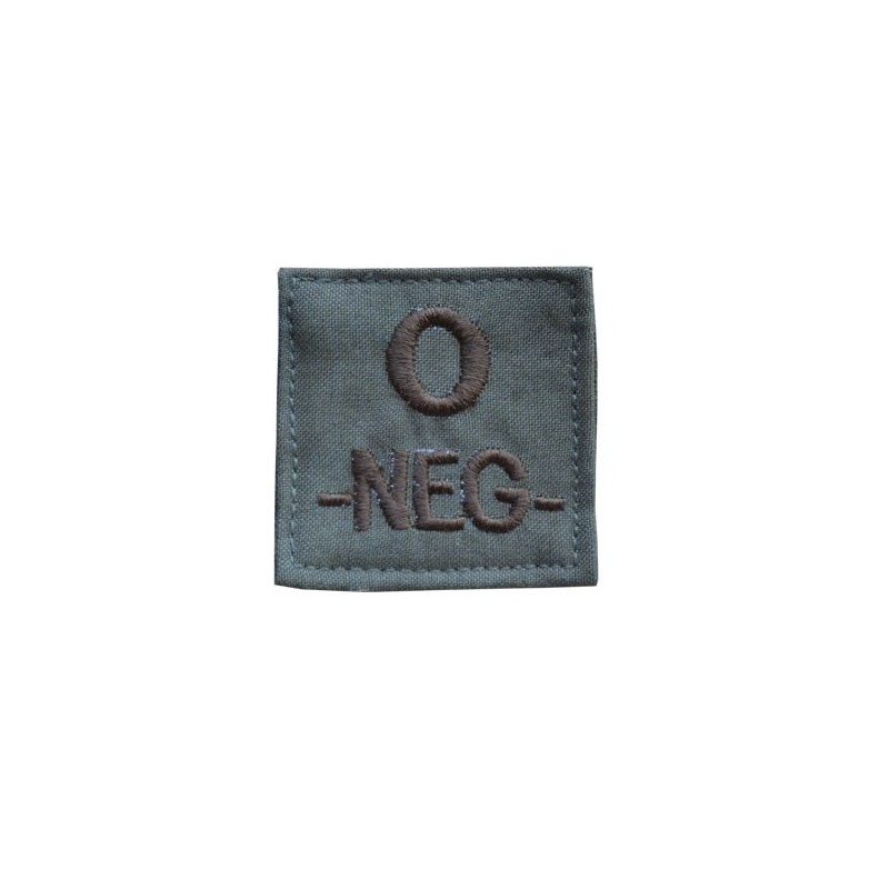"06"" PATCHES GROUPE SANGUIN O-NEG-"