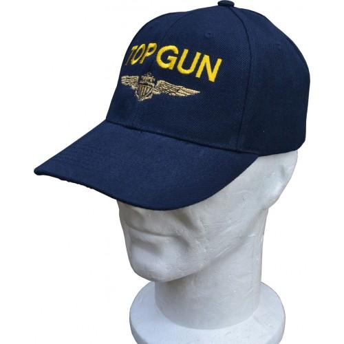 CASQUETTE MOTIF TOP GUN INSIGNE