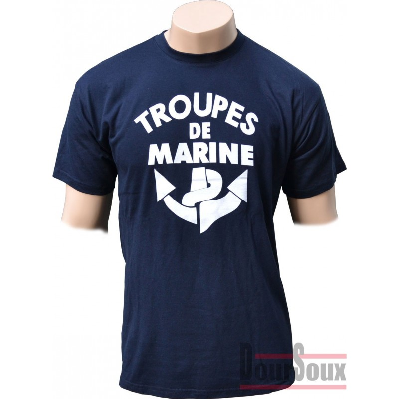 FRENCH TEE SHIRT WITH BADGE - TROUPE DE MARINE