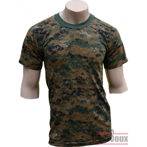 US CAMO DIGITAL WOOD TEE SHIRT