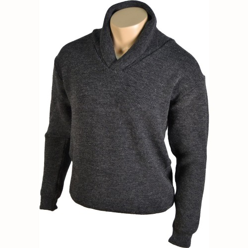 PULL COL CHALE GRIS