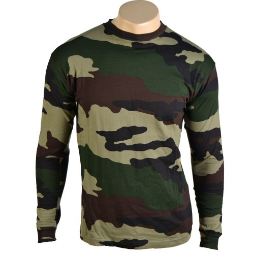 FRENCH CENTRE EUROPE CAMO TEE SHIRT LONG SLEEVES