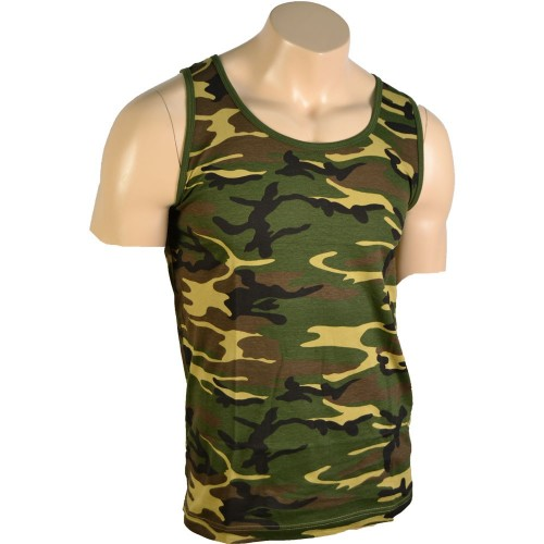 US CAMO WOODLAND TANK TOP