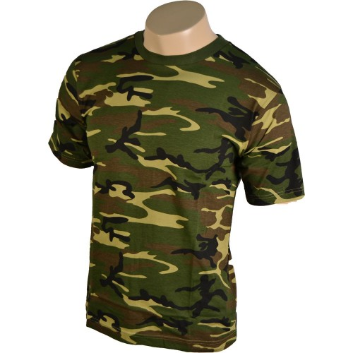 US WOODLAND CAMO TEE SHIRT