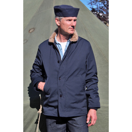 DECK JACKET US NAVY BLEU MARINE