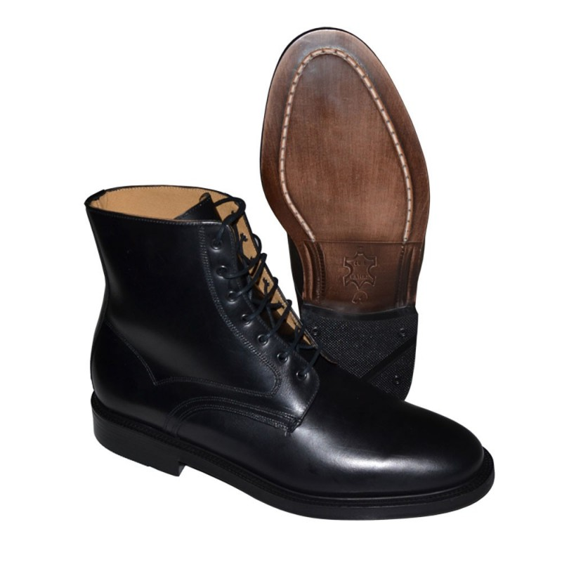 BOTTINES OFFICIER NOIR