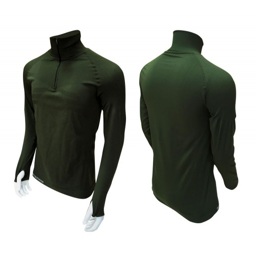 SWEAT DOUBLE SOFT ZIPPÉE VERT