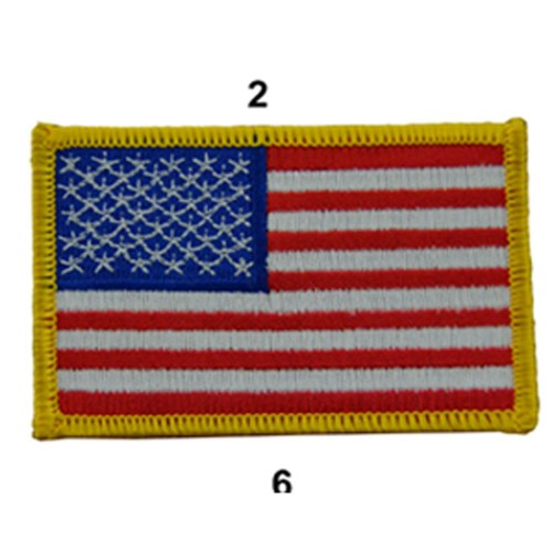US ARMY FLAG SLEEVES GAUCHE FULL COLOR