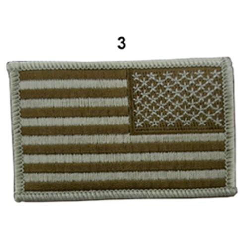 US ARMY FLAG SLEEVES DROIT CAMO DESERT