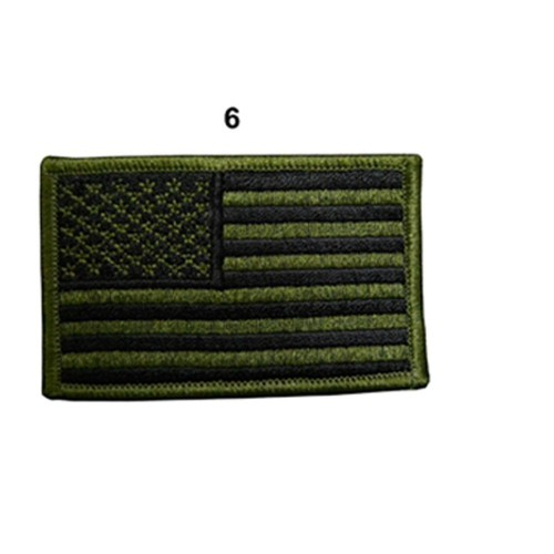 US ARMY FLAG SLEEVES GAUCHE FULL SUBBUED