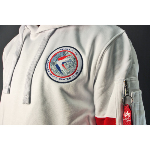 SWEAT SHIRT NASA APOLLO XV HOODY BLANC
