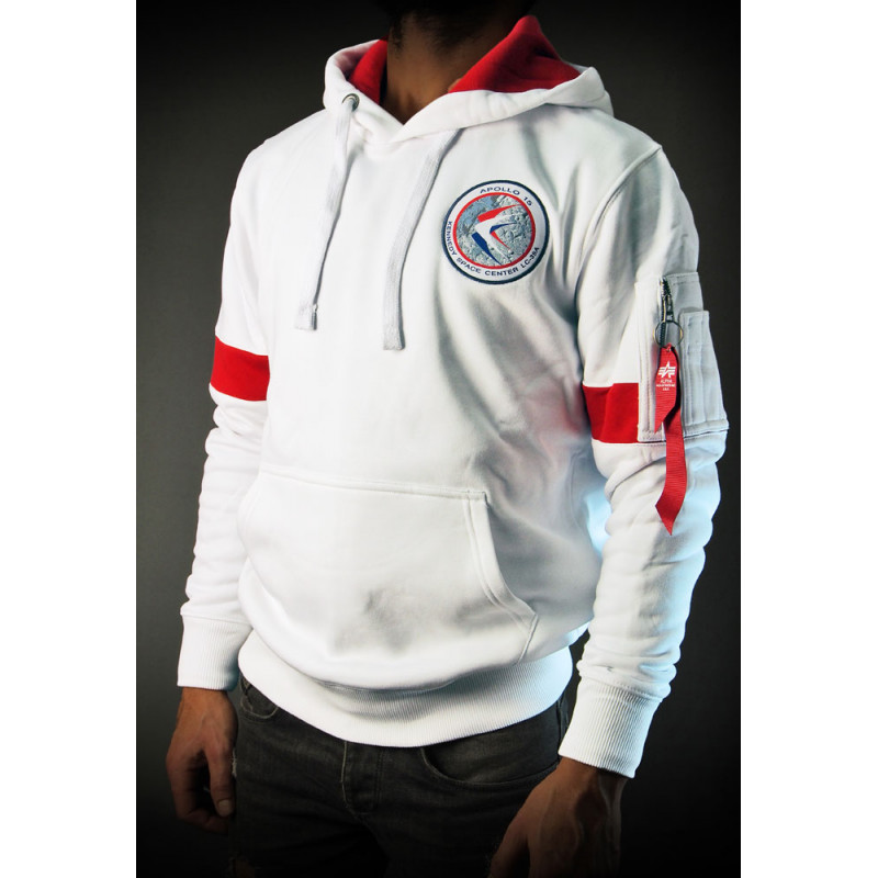 SWEAT SHIRT NASA APOLLO XV HOODY BLANC