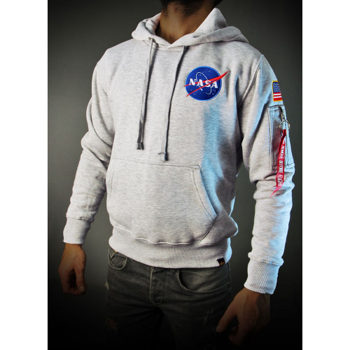 SWEAT SHIRT NASA SPACE SHUTTLE HOODY GRIS