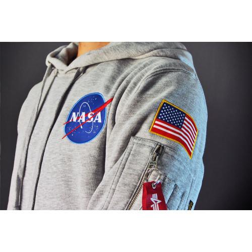 SWEAT SHIRT NASA SPACE SHUTTLE HOODY GRIS