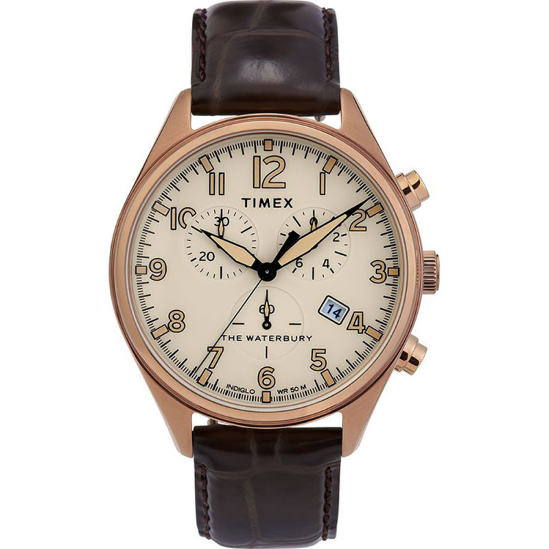 MONTRE TIMEX WATERBURY CHRONOGRAPHE - DATE- 42mm