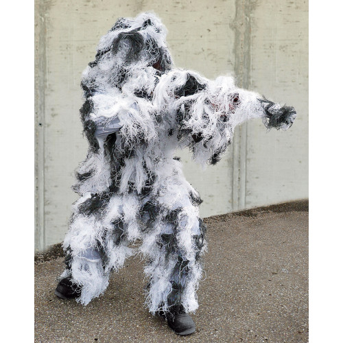 GHILLIE SUIT PRO 4PC SNOW