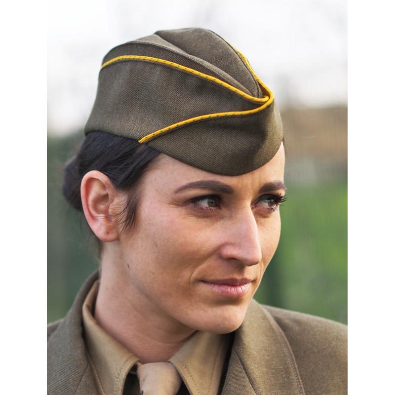"""CALOT """"BANANE"""" SOUS OFFICIER FEMME WW2"""