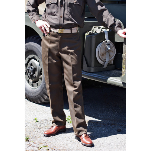 PANTALON DE SORTIE OFFICIER CHOCOLAT WW2