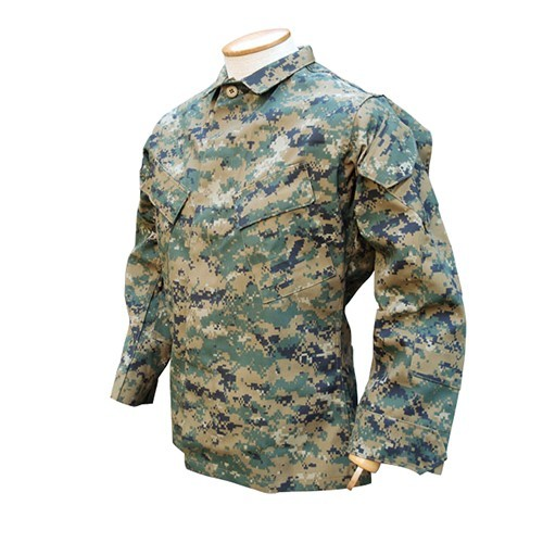 BDU MARINE DIGITAL WOODLAND SHIRT