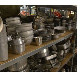 SMALL EQUIPMENT, CUTLERY, PLATE, GAMELLE, ETC ...
