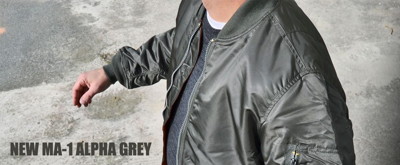Nouveau MA-1 gris Alpha