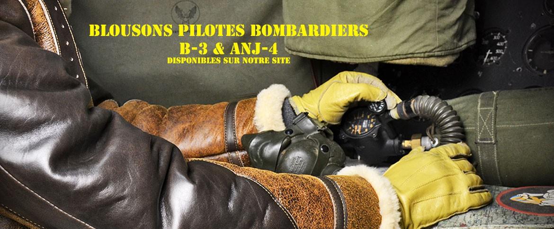 blouson pilote bombardier