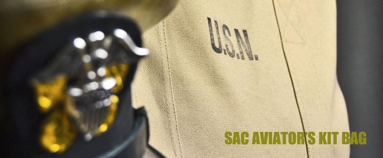 sac aviator's kit bag us navy