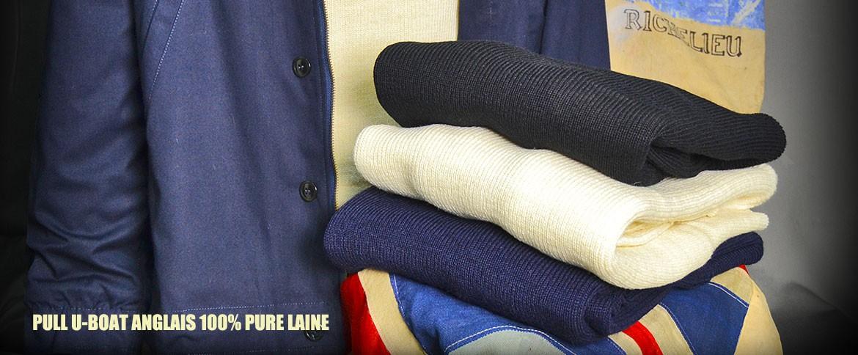 pull anglais 100% laine
